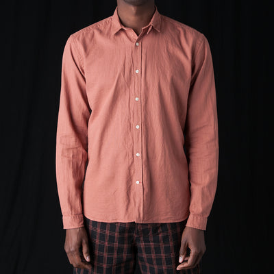 Oliver Spencer - Clerkenwell Tab Shirt in Kildale Pink