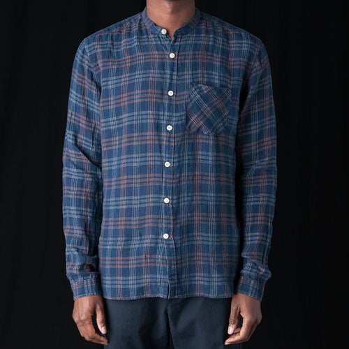 Grandad Shirt in Fairhurst Indigo