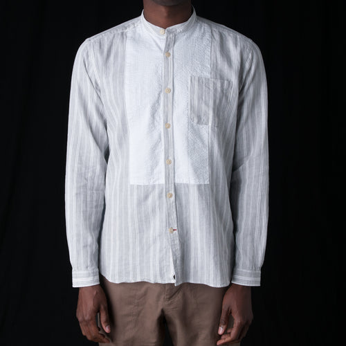 Bib Grandad Shirt in Harnett Grey