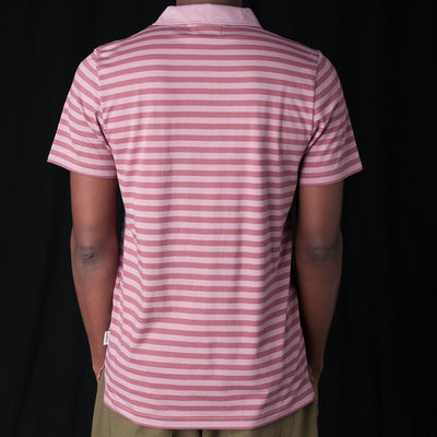 Oliver Spencer - Dunmore Polo in Capri Raspberry & Pink