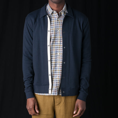 Rundell Jersey Jacket in Parker Navy