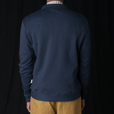 Oliver Spencer - Rundell Jersey Jacket in Parker Navy