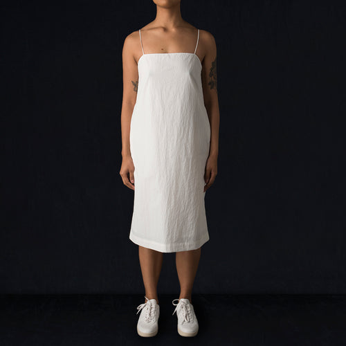 Tissue Nylon Coco Slip Dress in White
