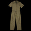 Deveaux - Tissue Nylon Jumpsuit in Olive