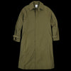 Deveaux - Tissue Nylon Trapeze Coat in Olive