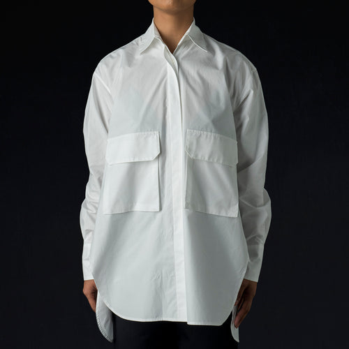 Poplin Max Shirt in White