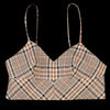 Deveaux - Lea Bra Top in Beige Check