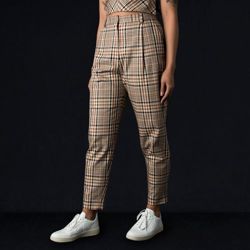 Wyatt Pant in Beige Check