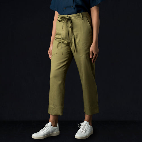 Cotton Twill Work Pant in Loden