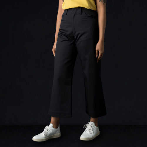 Cotton Twill Elliott Pant in Navy