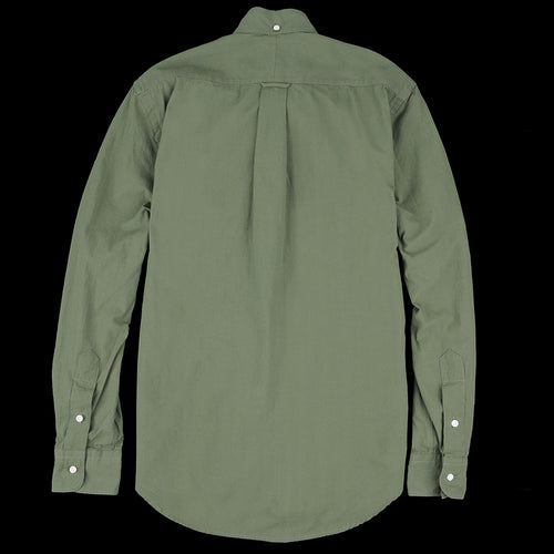 Button Down Shirt in Olive Washer Cloth