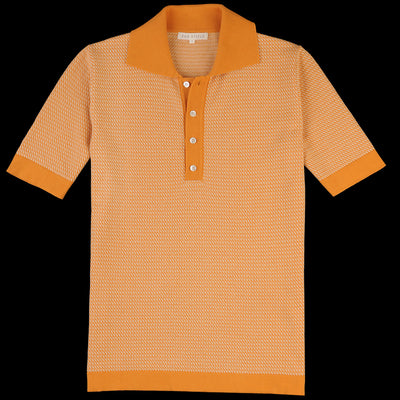 Far Afield - Leon S/S Polo in Nugget & Biscotti