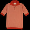 Far Afield - Blakey S/S Polo in Rooibos Tea & Biscotti