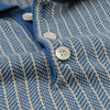 Far Afield - Blakey S/S Polo in Ensign Blue & Biscotti