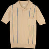 Far Afield - Alfaro S/S Polo in Biscotti & Ensign Blue