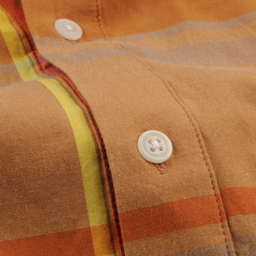 Madras Shirting Company x Ivy S/S Shirt in Camel
