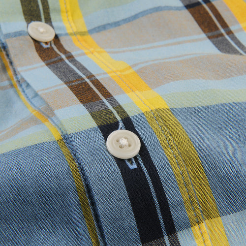 Madras Shirting Company x Ivy S/S Shirt in Blue