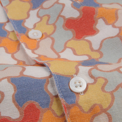 Far Afield - Selleck S/S Shirt in Jazz Camo Linen