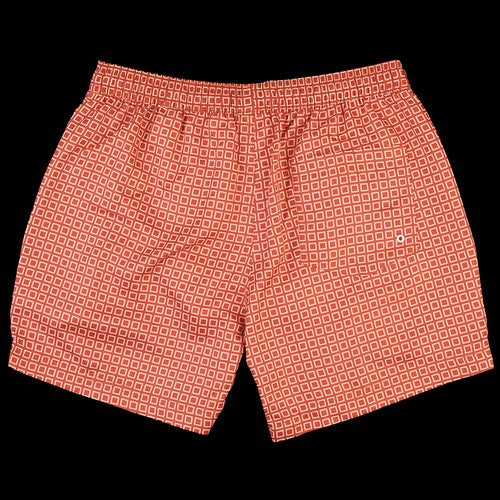 Printed Swimshort in Hip Square Red