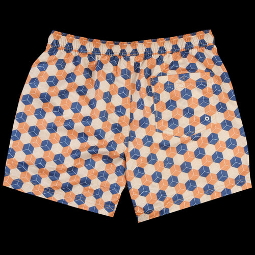 Printed Swimshort in Cubist