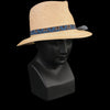 Albertus Swanepoel - Mangobe Raffia Crown Milan Brim Hat in Natural