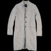 Pas de Calais - Layered Front Linen Coat in Light Grey