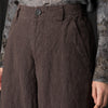Pas de Calais - Micro Houndstooth Pant in Brown
