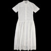 Pas de Calais - Organic Cotton Shirt Dress in White