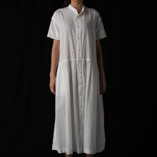 Organic Cotton Shirt Dress in White