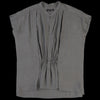 Pas de Calais - Recycled Cupro Blouse in Charcoal