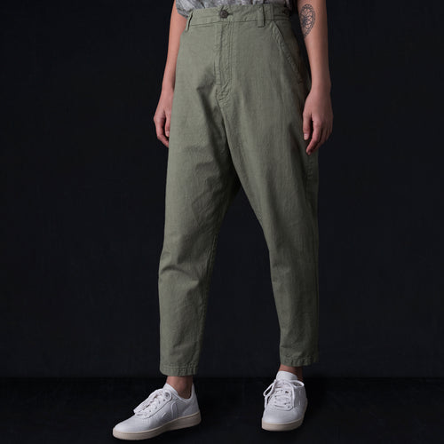 Cotton Pant in Green