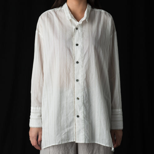 Pinstripe Oversize Shirt in White
