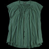 Pas de Calais - Short Sleeve Khadi Blouse in Green