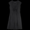 Pas de Calais - Gathered A-Line Dress in Black