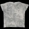 Pas de Calais - Lichen Print Blouse in Light Grey