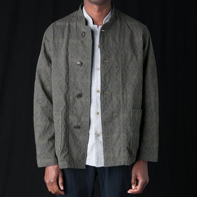 Sage de Crêt - Cotton Jacquard Jacket in Khaki
