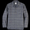 Sage de Crêt - Seersucker Check Shirt Jacket in Grey