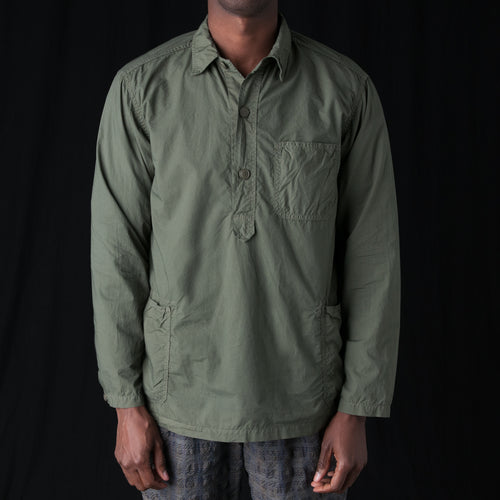 Cotton Popover Shirt in Khaki