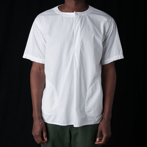 Oversized Woven Tee in Off White