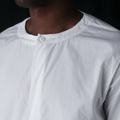 Sage de Crêt - Oversized Woven Tee in Off White