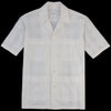 Sage de Crêt - Crinkle Check Camp Shirt in White