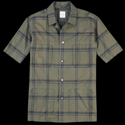 Sage de Crêt - Plaid Camp Shirt in Khaki