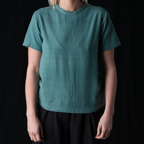 Justice Woven Tee in Eucalyptus Leaf