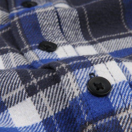 Plaid Chore Shirt in Navy & White