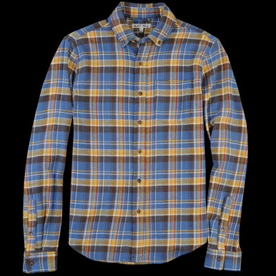 Alex Mill - Flannel Button Down Shirt in Blue & Yellow