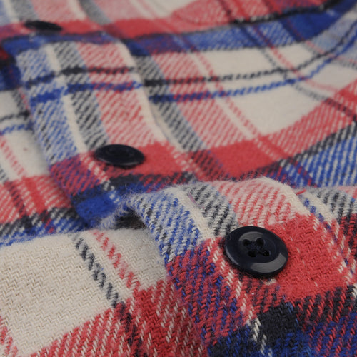 Plaid Chore Shirt in Red Blue & Cream