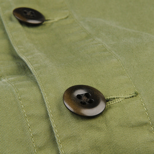 Garment Dyed Work Jacket in Army Green