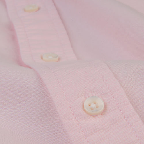 Overdyed Oxford Shirt in Light Pink