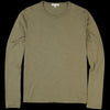 Alex Mill - Standard Longsleeve Slub Cotton Tee in Military Green