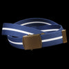 Alex Mill - Striped Web Belt in Navy & White